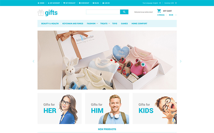 Gifts Shop Magento Theme