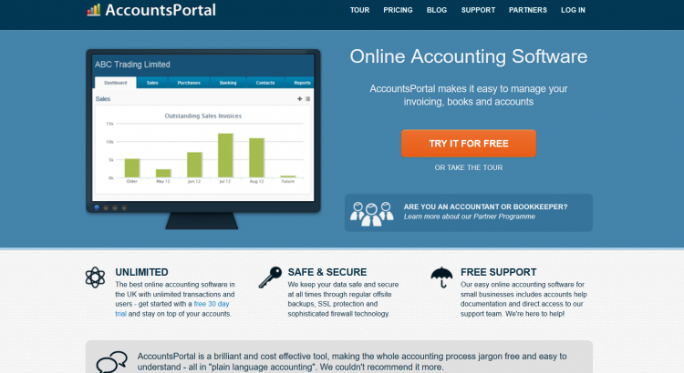 AccountsPortal: Great Value Accounting Software